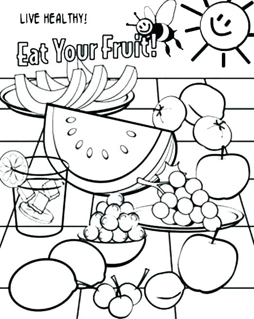 522x657 Free Printable Food Coloring Pages For Kids Breakfast Food