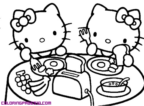 500x369 Hello Kitty Is Having Breakfast