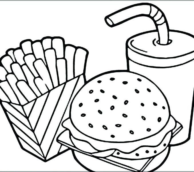 678x600 Lunch Food Coloring Pages Breakfast Coloring Pages Denvermetro