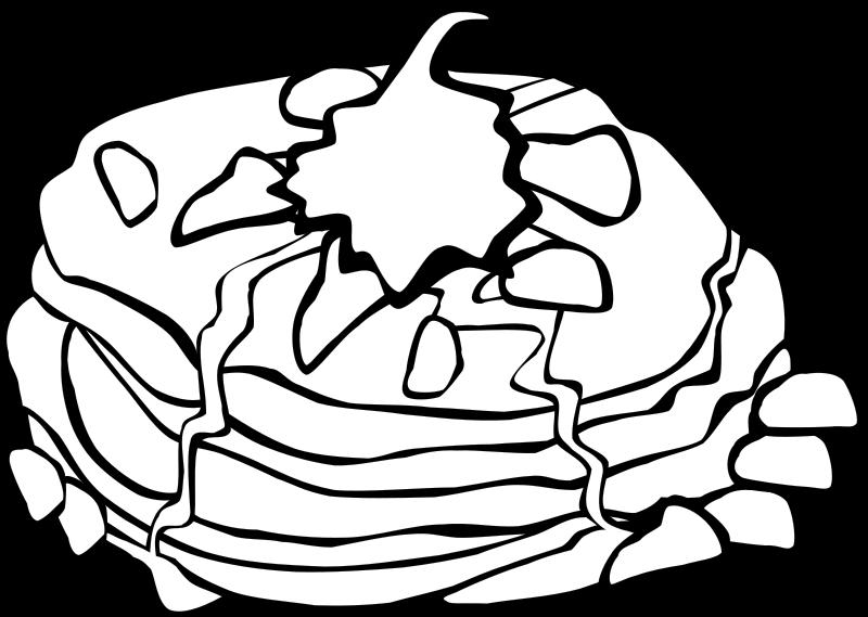 800x569 Pancake Coloring Sheet