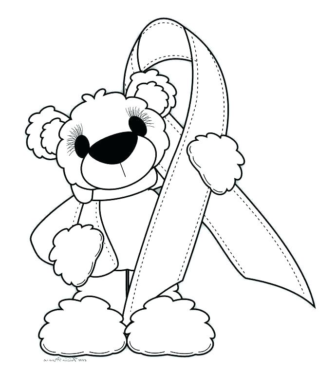 690x768 Cancer Coloring Pages Free Ribbon Coloring Page