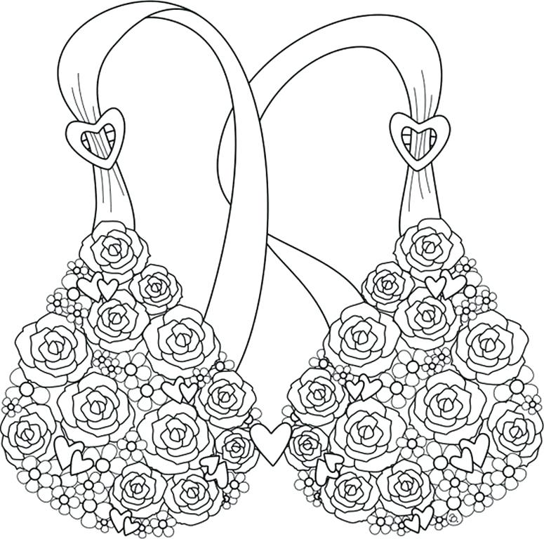 775x768 Breast Cancer Awareness Coloring Pages Cancer Ribbon Coloring Page