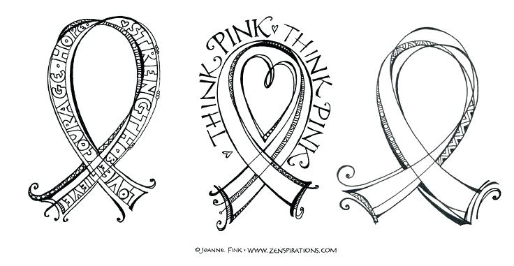736x381 Cancer Coloring Pages Breast Cancer Ribbon Coloring Page Awesome
