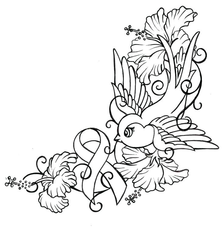 736x774 Cancer Coloring Pages Cancer Awareness Ribbon Coloring Page