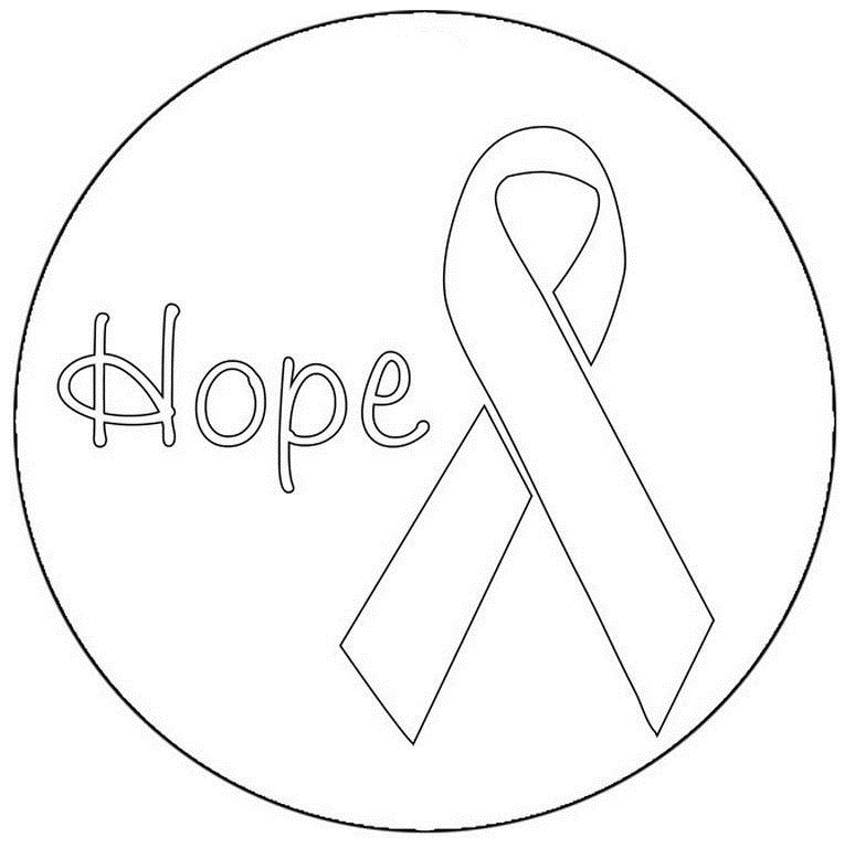 774x768 Printable Breast Cancer Ribbon Coloring Pages
