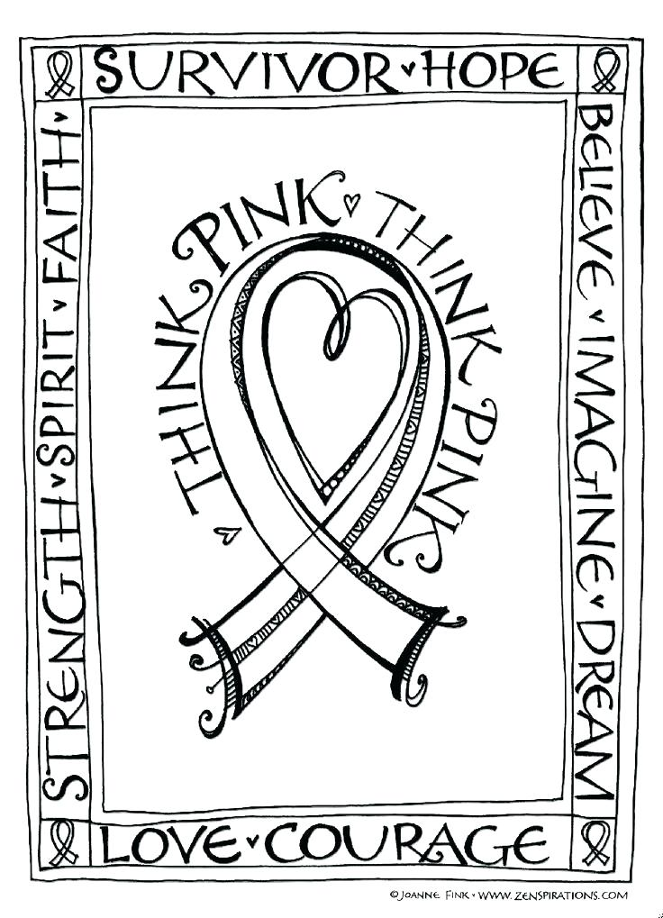 736x1019 Coloring Pink Ribbon Coloring Pages