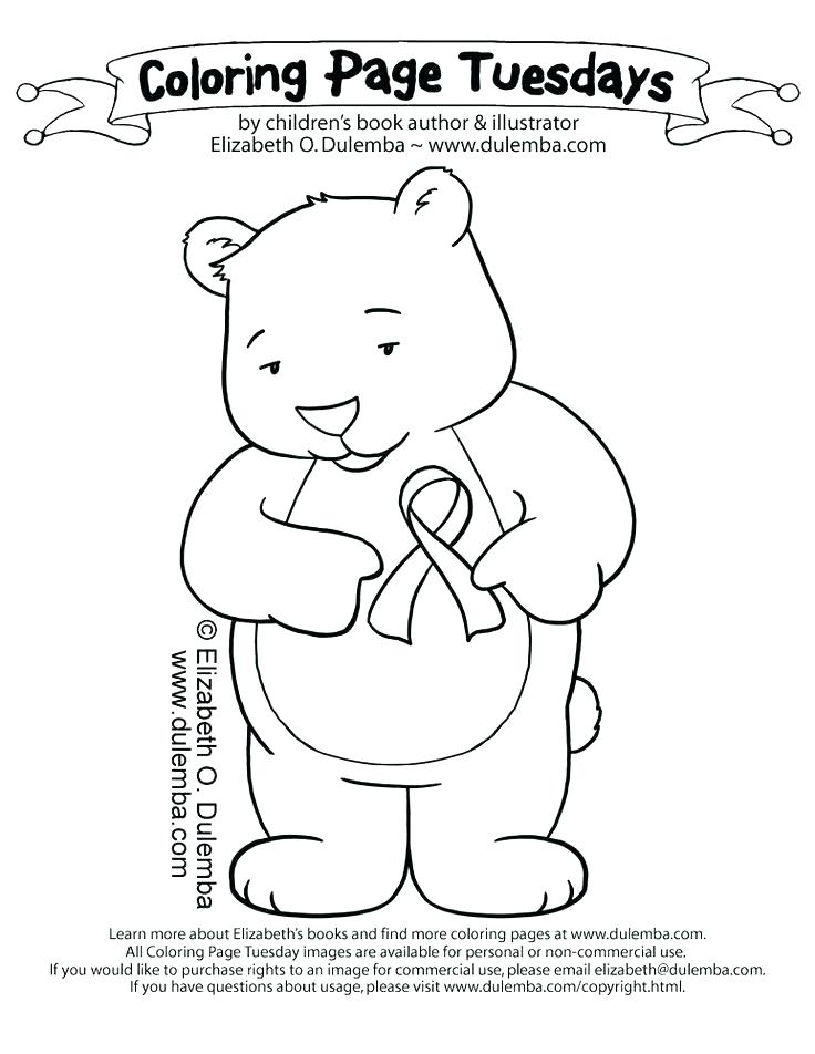 736x952 Printable Breast Cancer Ribbon Coloring Pages