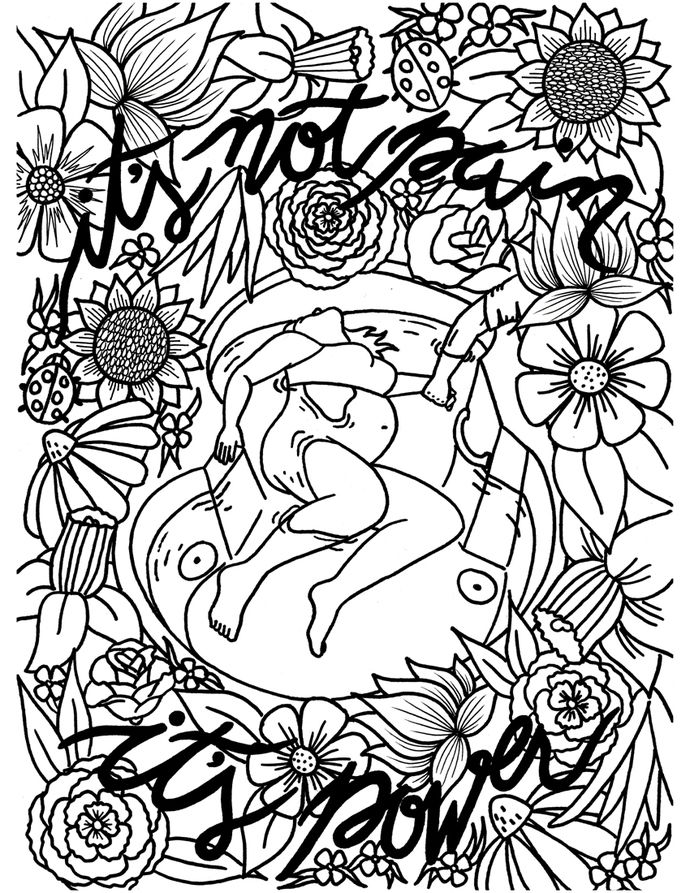 690x893 Bringing Baby Earthside A Birth Affirmations Coloring Book