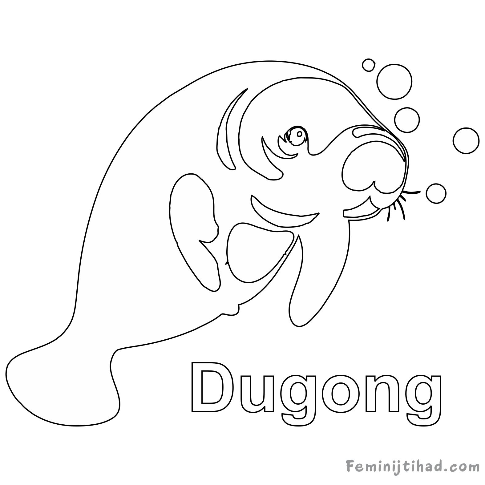 1575x1575 Dugong Coloring Pages Free To Print Coloring Pages For Kids