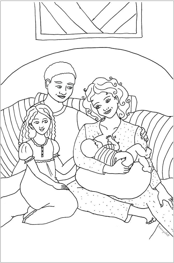 722x1094 Through A Child's Eyes Keepsake Colouring Book Snugabell