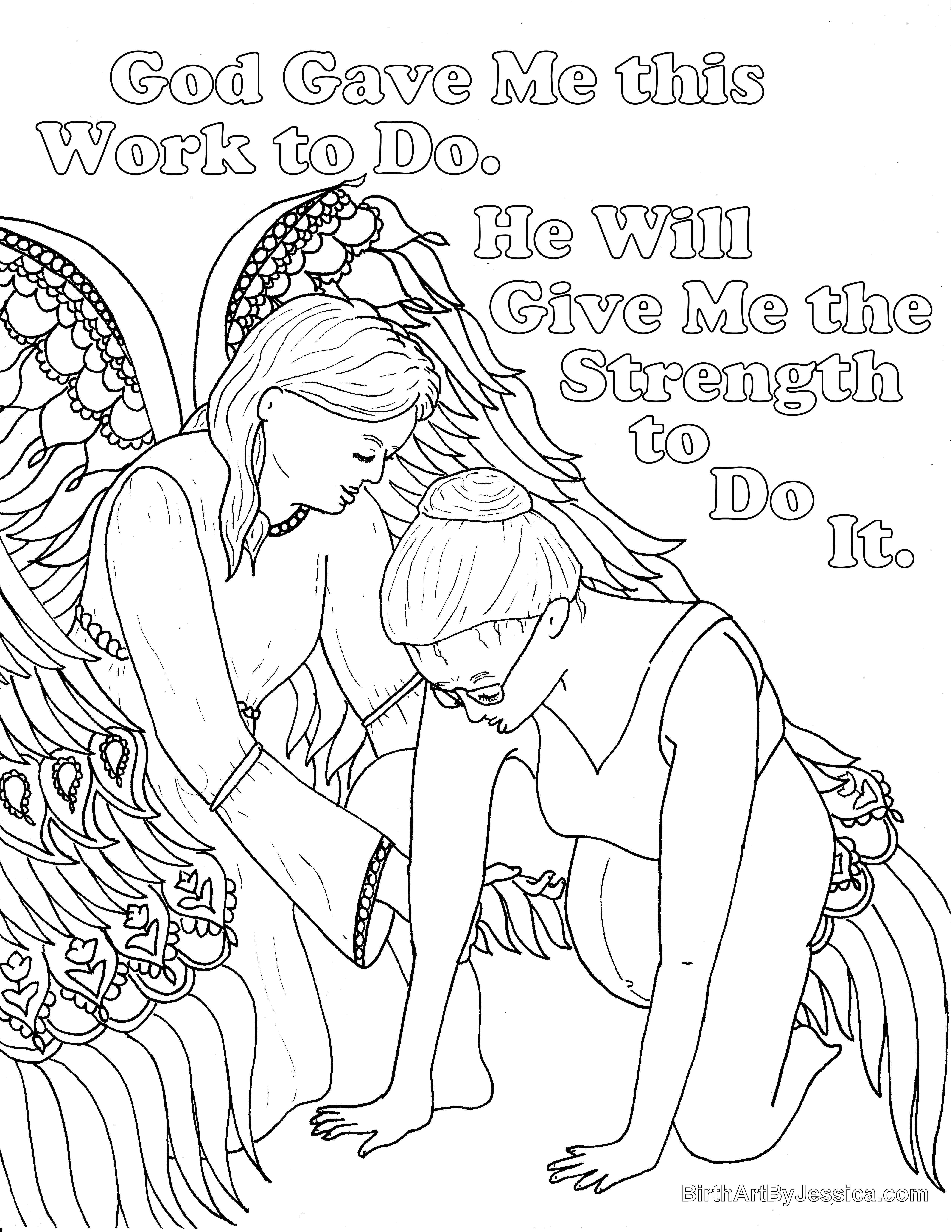 5100x6602 Birth Affirmation Coloring Page Free Printable! God Will Give Me