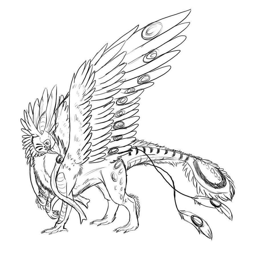 894x894 Griffin Coloring Pages Images Free Coloring Pages Part