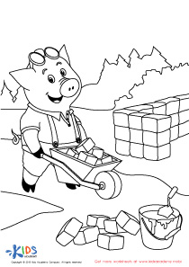 210x297 Little Pigs Coloring Pages Latest Three Little Pigs Coloring