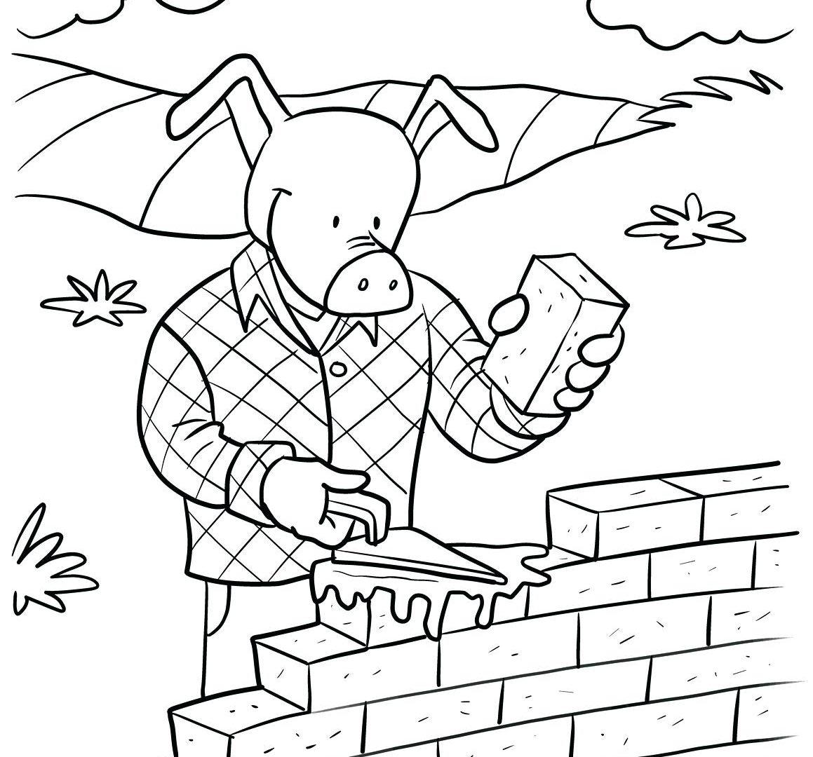 1159x1080 Brick Wall Coloring Page