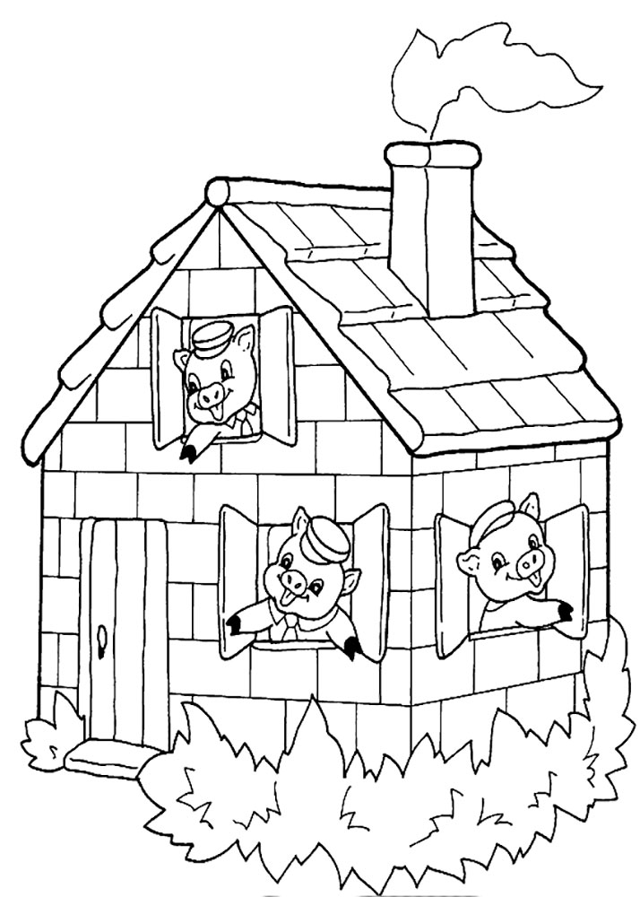 714x1000 Three Little Pigs Coloring Pages