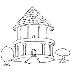 230x230 Top Free Printable House Coloring Pages Online