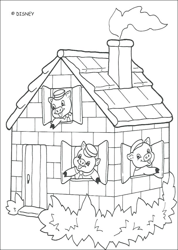 607x850 Brick House Coloring Page