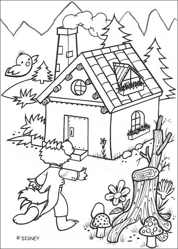 607x850 A Solid House Coloring Page Coloring Pages