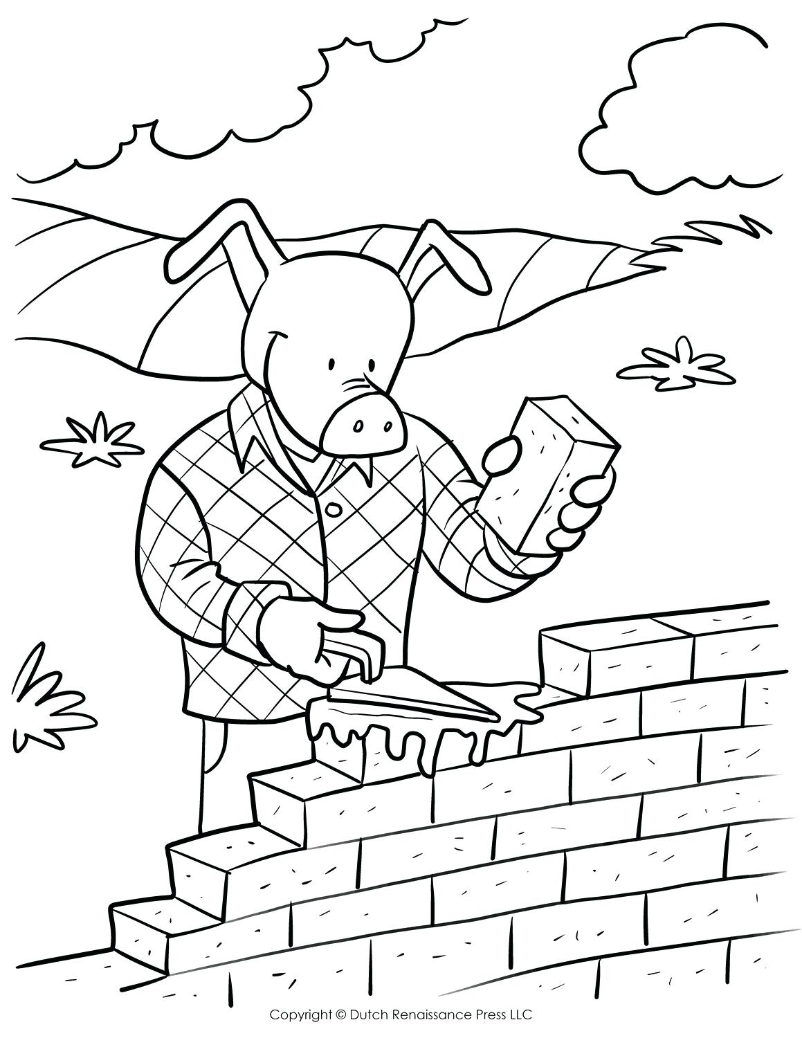 1159x1500 Free Brick Wall Coloring Pages Page For Kids Red