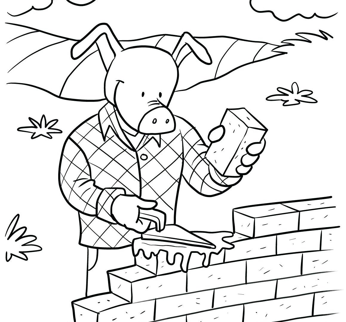 1159x1080 Scarce Brick Wall Coloring Page Yellow Road Sheet Dying House Show