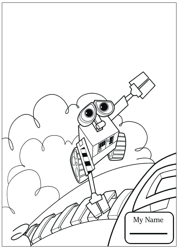 578x810 Wall E Coloring Page Cartoons Is Leaving Wall E Coloring Pages