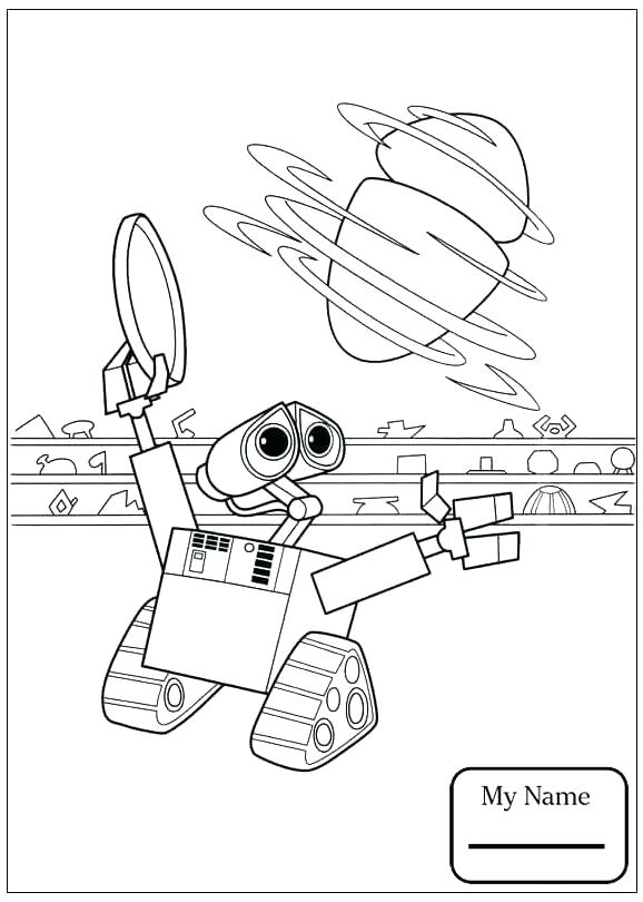 578x810 Wall E Coloring Pages Wall E Coloring Page Cartoons Wall E Broken
