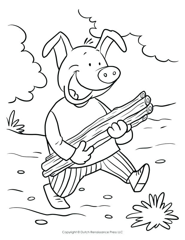 618x800 Brick Coloring Page Three Little Pigs Yellow Brick Road Coloring
