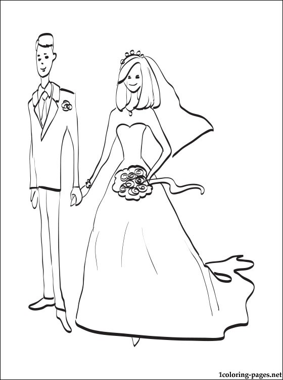 560x750 Bride And Groom Coloring Page Coloring Pages