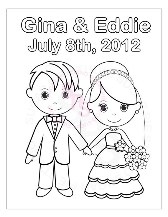 570x738 Personalized Printable Bride Groom Wedding Party Favor