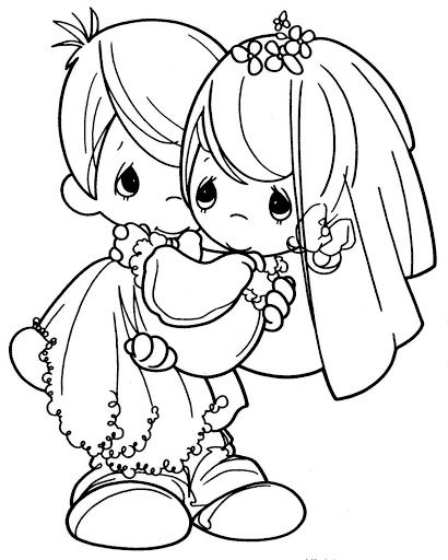 410x512 Precious Moments Bride And Groom Coloring Pages