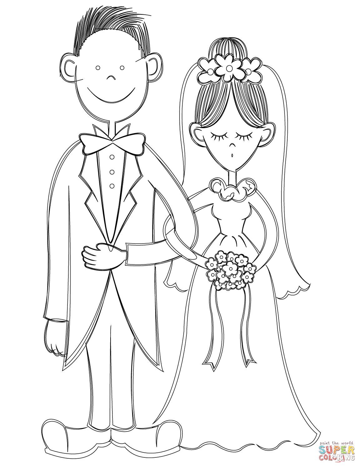 1159x1500 Bride And Groom Coloring Page Free Printable Coloring Pages Bride