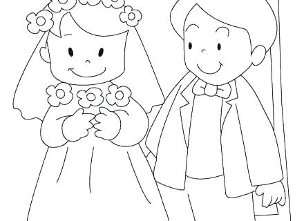 440x320 Bride And Groom Coloring Pages