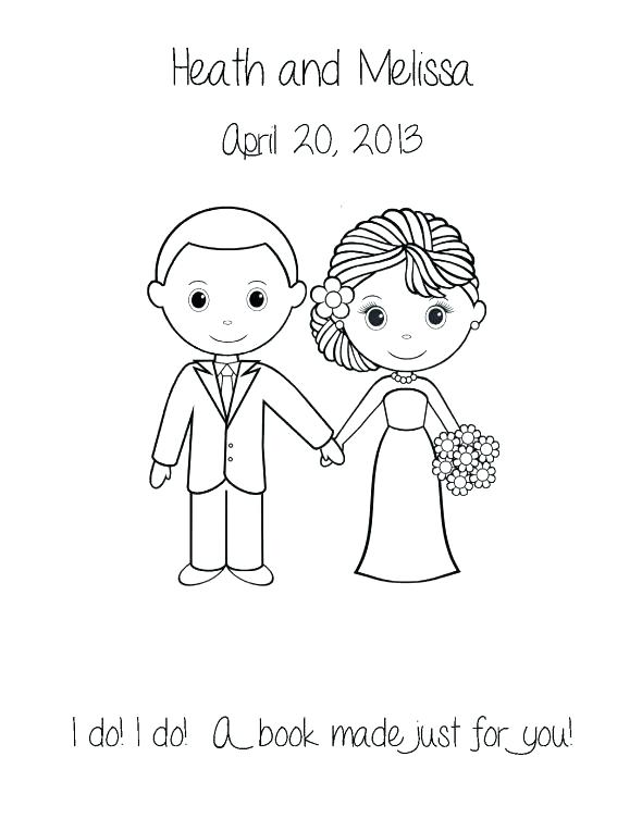 590x764 Bride And Groom Coloring Page Bride And Groom Colori Page Bride