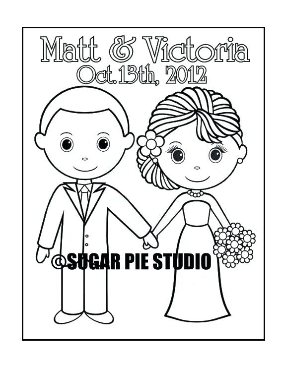570x738 Bride And Groom Coloring Pages Like This Item Bride And Groom