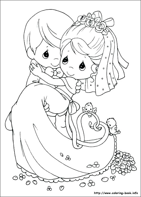 567x794 Bride Groom Coloring Pictures Bride And Groom Wedding Coloring