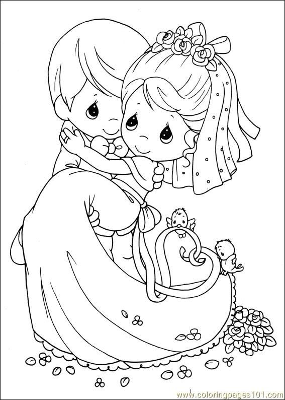 Bride And Groom Coloring Pages Free