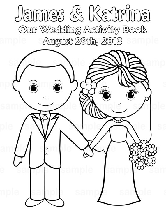 570x738 Bride And Groom Coloring Pages Wedding For Color Decorations