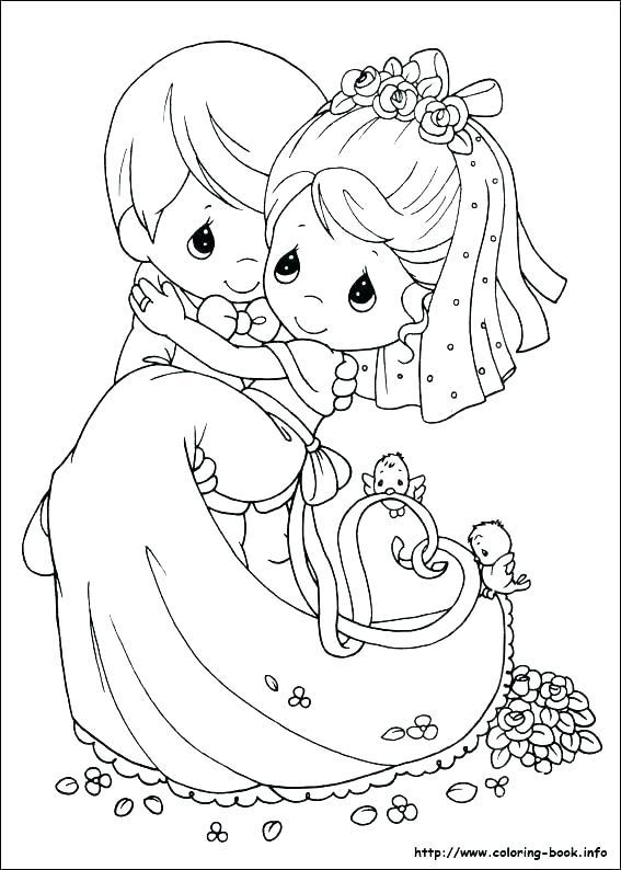 567x794 Bride Groom Coloring Pictures Bride And Groom Wedding Coloring
