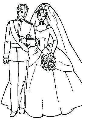281x430 Free Printable Bride And Groom Coloring Pages Page Es Groo
