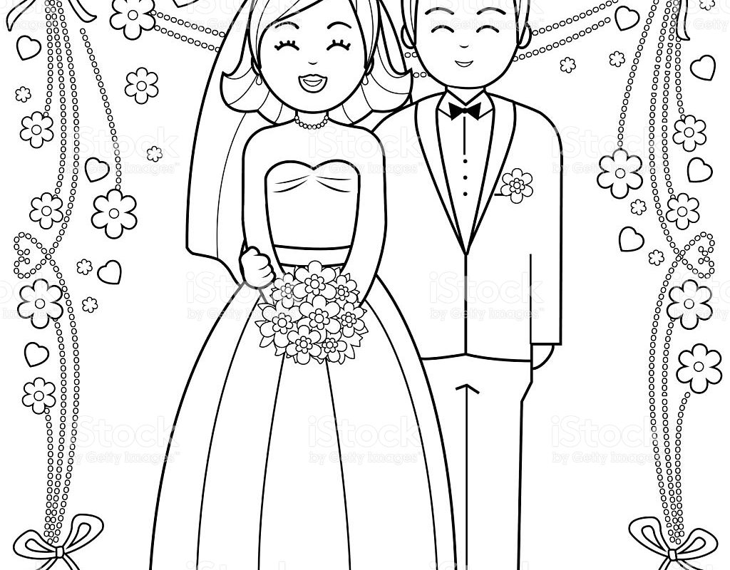 1024x800 Kids Bride And Groom Coloring Pages Free Barbie Thumbelina Color