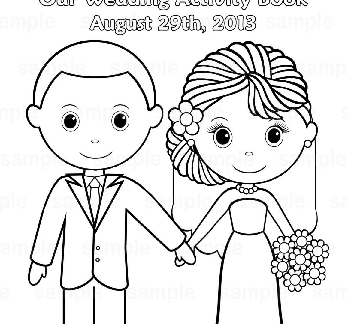 1159x1080 Modest Free Wedding Coloring Pages Bride And Groom Printable Kids