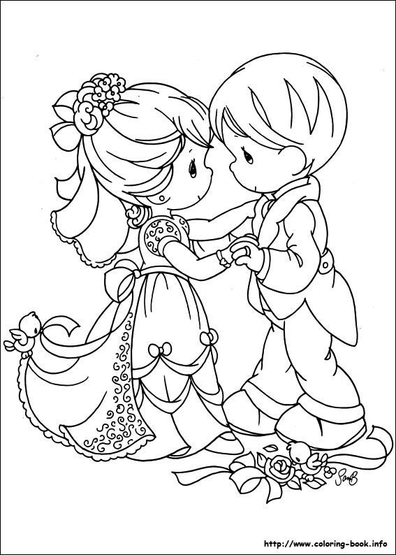 567x794 Precious Moments Bride And Groom Coloring Pages