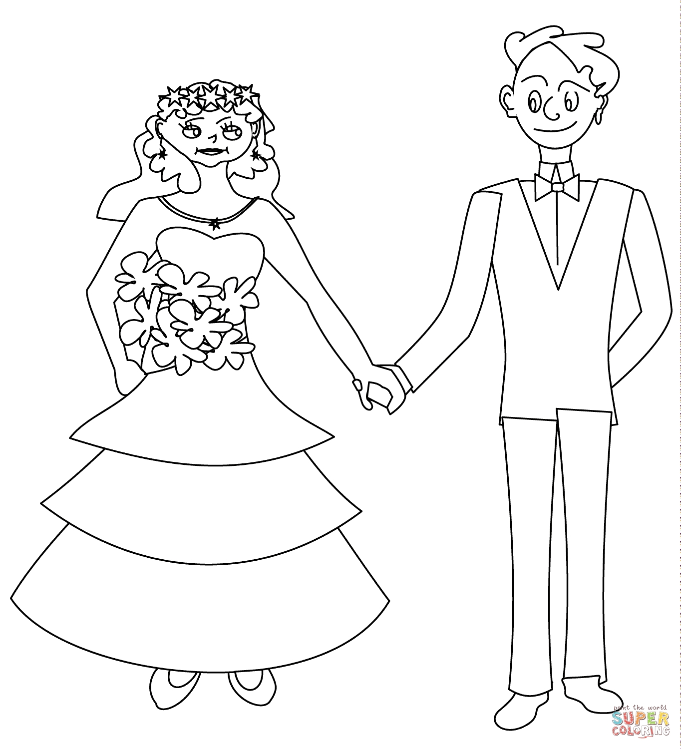 1364x1500 Top Bride Coloring Pages Free Coloring Page To Print