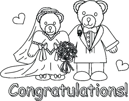 550x431 Coloring Bride And Groom Coloring Pages Wedding Sheets Free