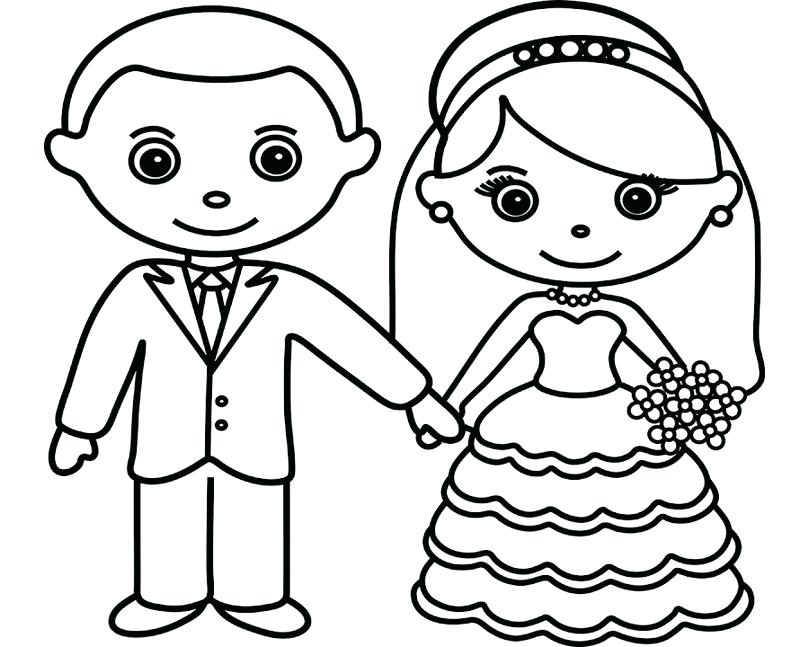 800x647 Bride Groom Coloring Pages Bride Groom Coloring