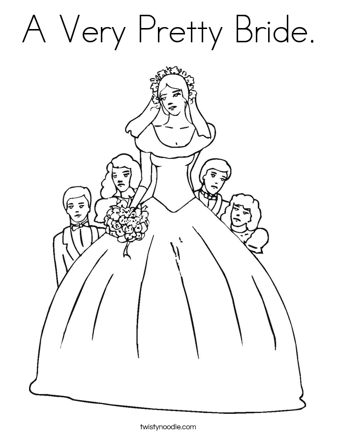 Bride Coloring Pages