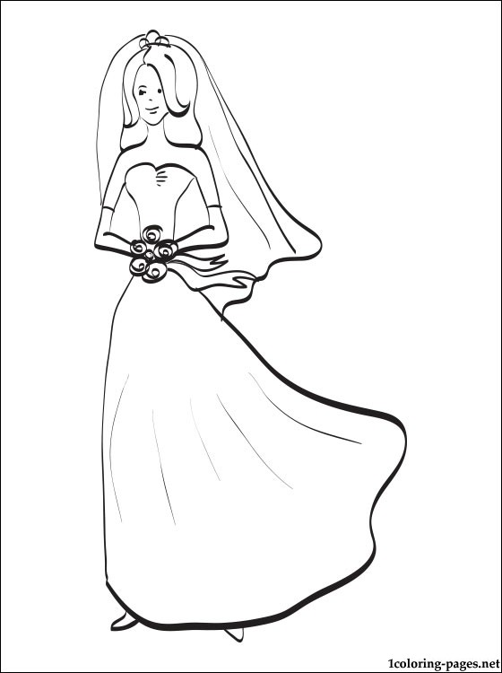 560x750 Bride Coloring Page Coloring Pages
