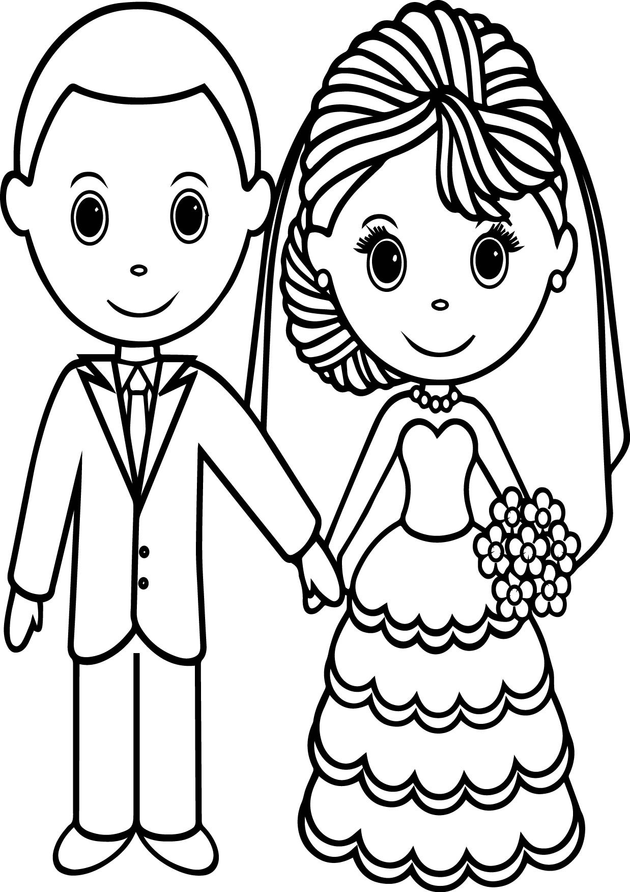 1238x1751 Free Printable Bride And Groom Coloring Pages Kids To Color Images