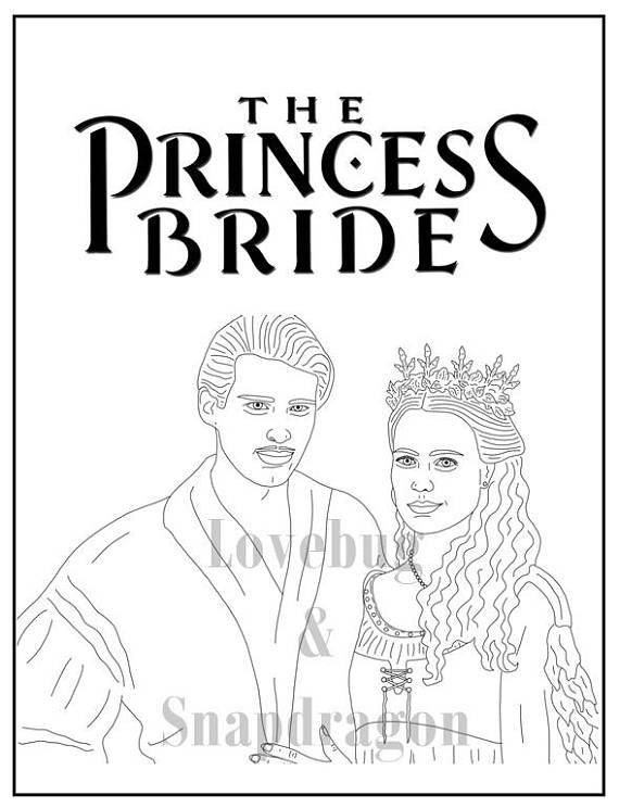 570x744 Princess Bride Coloring Book