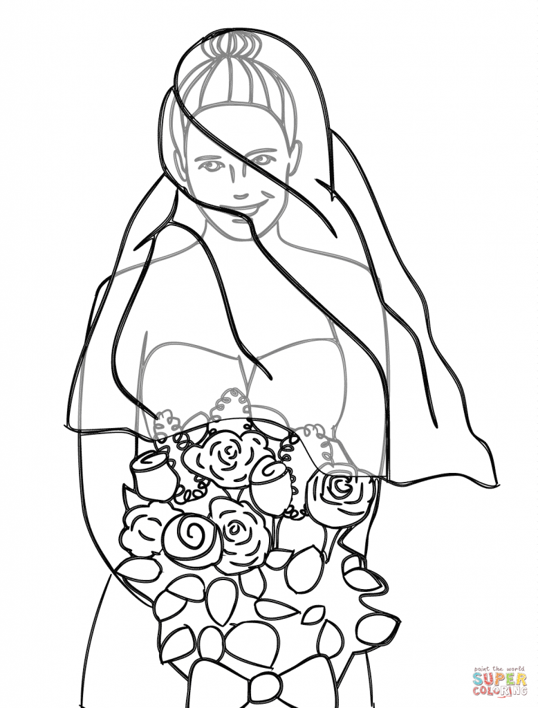 778x1024 Bride Coloring Page Download And Printable